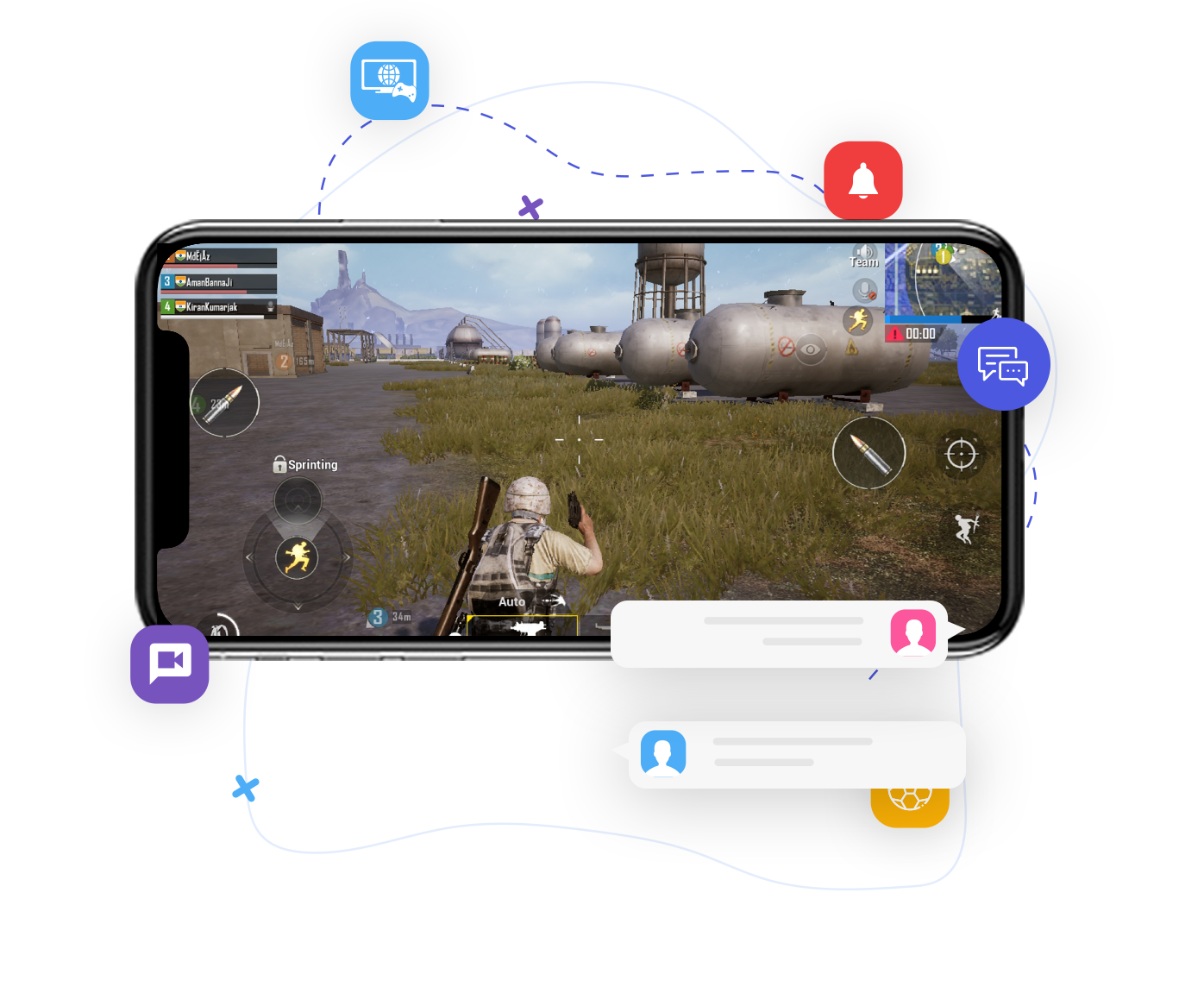 In app chat software for gaming industry